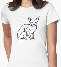 Sphynx cat Women's Fitted T-Shirt