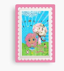 Daydreams Really Do Come True - Light Pink Hair Version Canvas Print