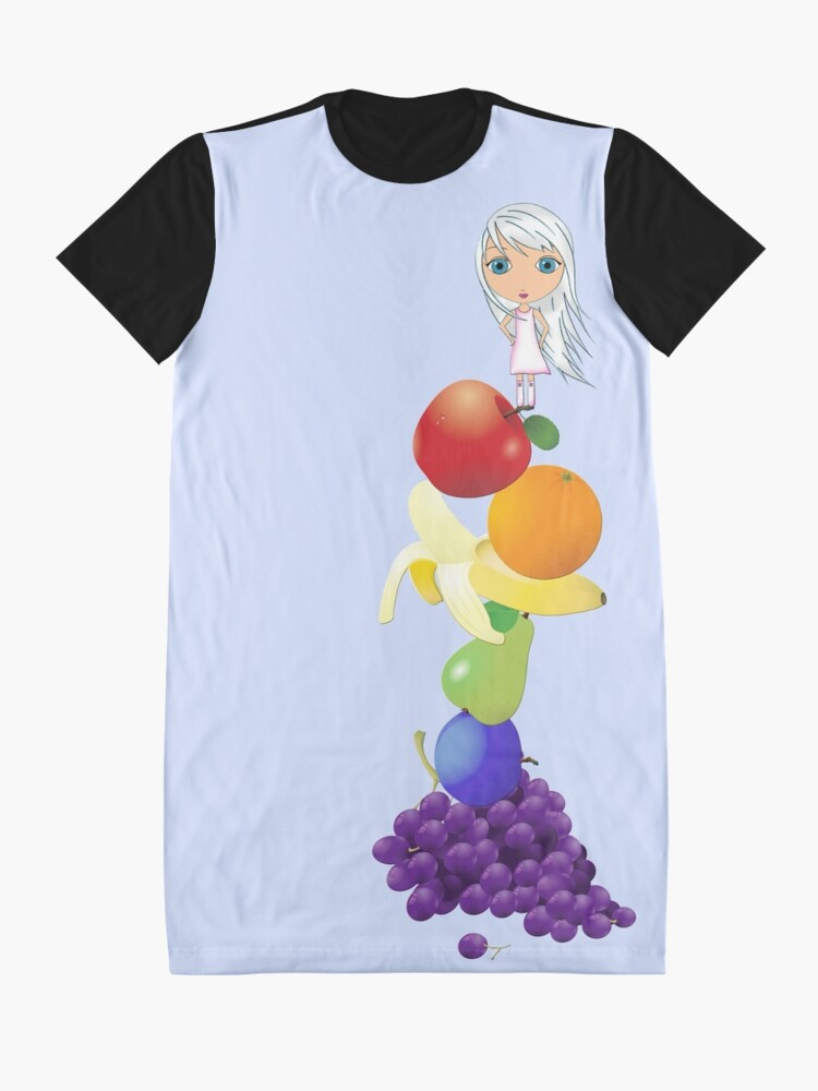 Alternate view of The Yummiest of Rainbows Graphic T-Shirt Dress