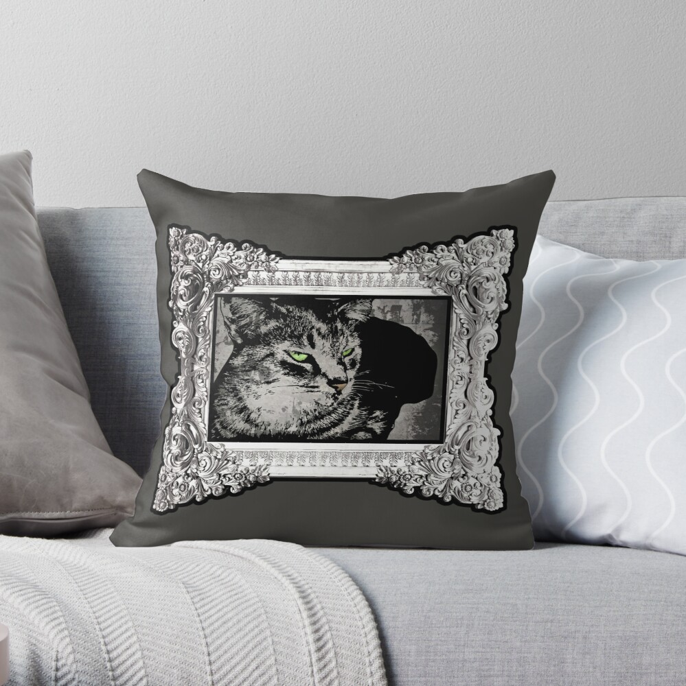 Feeling Catty Throw Pillow