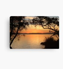 Super Sunset at Magical Myall Canvas Print