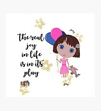 The Real Joy In Life Photographic Print