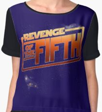 Revenge of The Fifth Geek Holiday Chiffon Top
