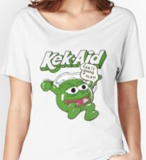 Kek-Aid (Kool-Aid) Pepe FreeKekistan ( Feels Good Man ) Women's Relaxed Fit T-Shirt