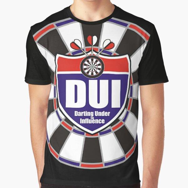 Darting Under the Influence Darts Team Graphic T-Shirt