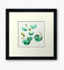 the hovering ponds. Framed Print