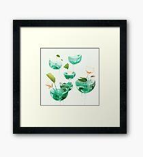 the hovering ponds. Framed Print