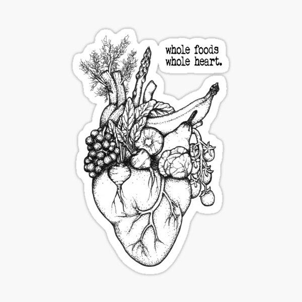 Whole Foods Whole Heart Sticker