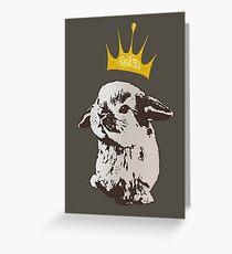 Grumpy Bunny Greeting Card
