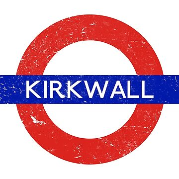 Dragon Age's Kirkwall Tube Stop Sign by glitchcraft