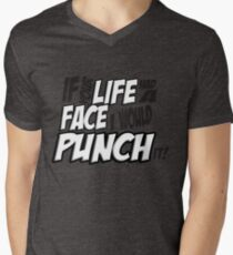 Scott Pilgrim Vs the World If your life had a face I would punch it! version 3 Men's V-Neck T-Shirt