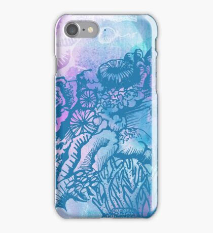 Coral Garden Watercolour Purple iPhone Case/Skin
