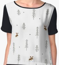 Winter cartoon moose Chiffon Top