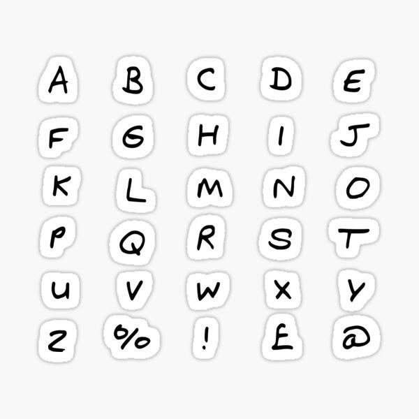 Pegatinas de letras ABC Pegatina