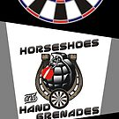 Horseshoes and Hand Grenades Darts Team by mydartshirts