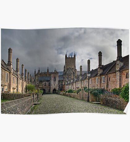 Vicars Close. Wells, England Poster