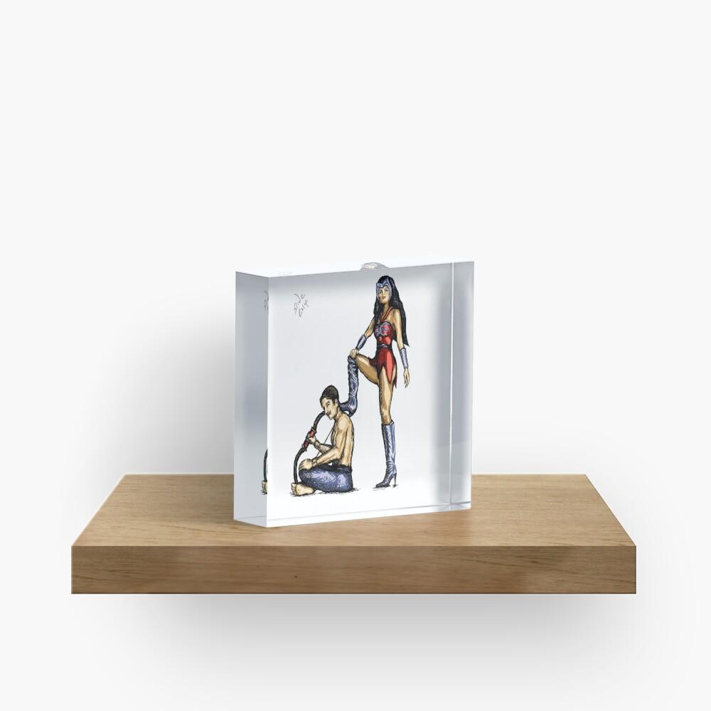 Catra and Bow, 2014 Acrylic Block