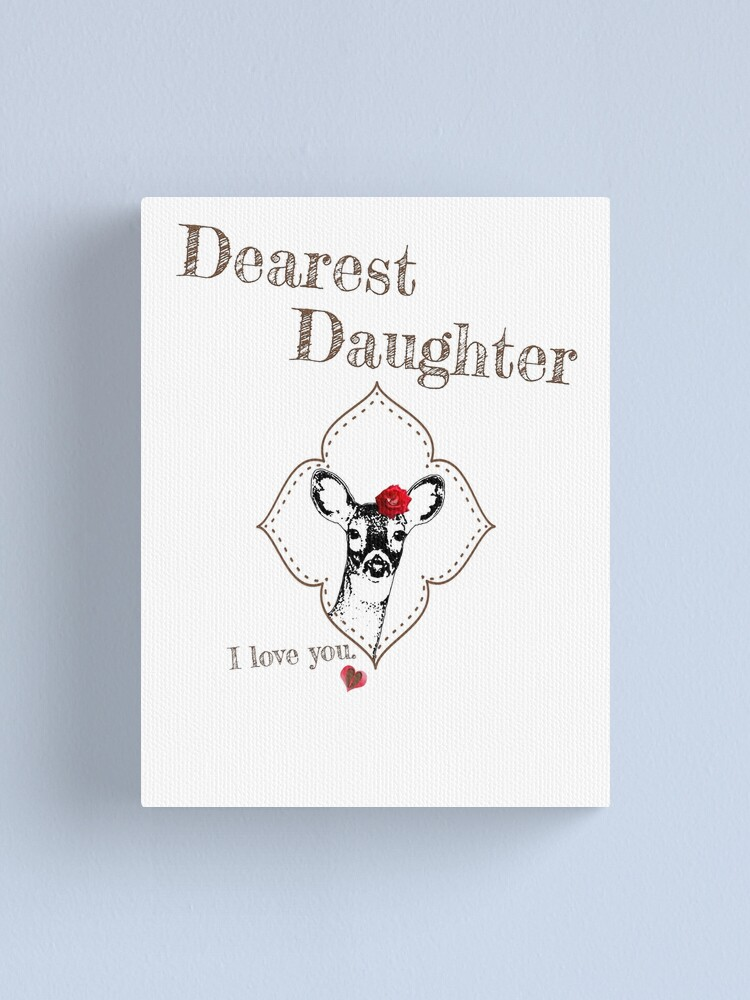 Alternate view of Deer Elder Daughter - I love my dear family Canvas Print
