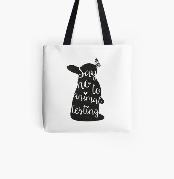 Say no to animal testing All Over Print Tote Bag