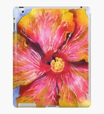 Yellow and Pink Groovy Hibiscus iPad Case/Skin