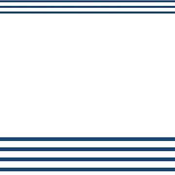 Trendy Nautical Navy White Stripes Design by EveStock