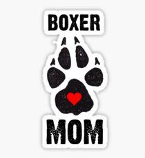 Boxer Mom Dog Paw Prints Sticker