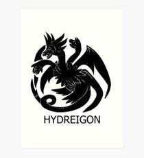 Targaryen Hydreigon Art Print