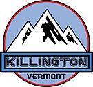 SKI KILLINGTON VERMONT Mountain Skiing SKIIER SNOWBOARD by MyHandmadeSigns