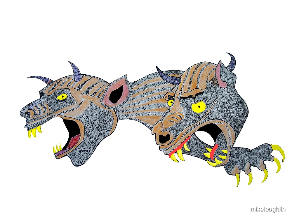 2 Gargoyles by mikeloughlin