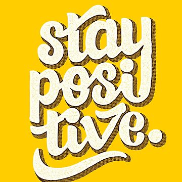 Stay Positive - Hand Lettering Retro Type Design von sebastianst