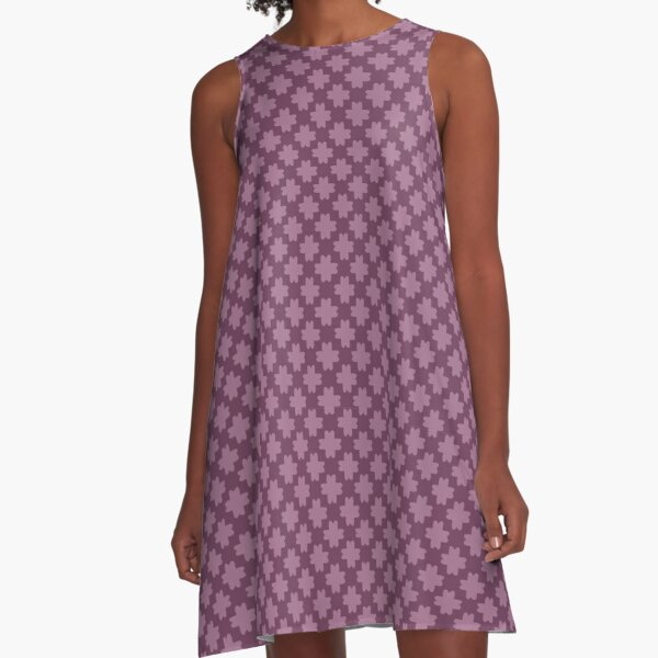 French Crosses A-Line Dress