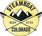 STEAMBOAT SPRINGS COLORADO Ski Skiing Mountain Mountains Skiing Skis Snowboard Snowboarding by MyHandmadeSigns