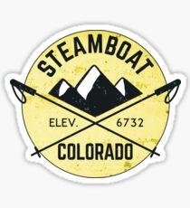 STEAMBOAT SPRINGS COLORADO Ski Skiing Mountain Mountains Skiing Skis Snowboard Snowboarding Sticker