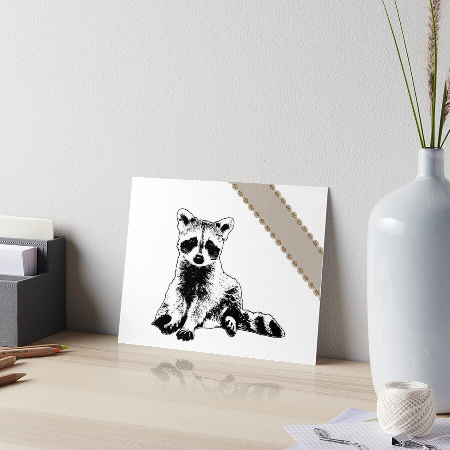 Raccoon - Critter Love Collection 6 of 6 Art Board Print