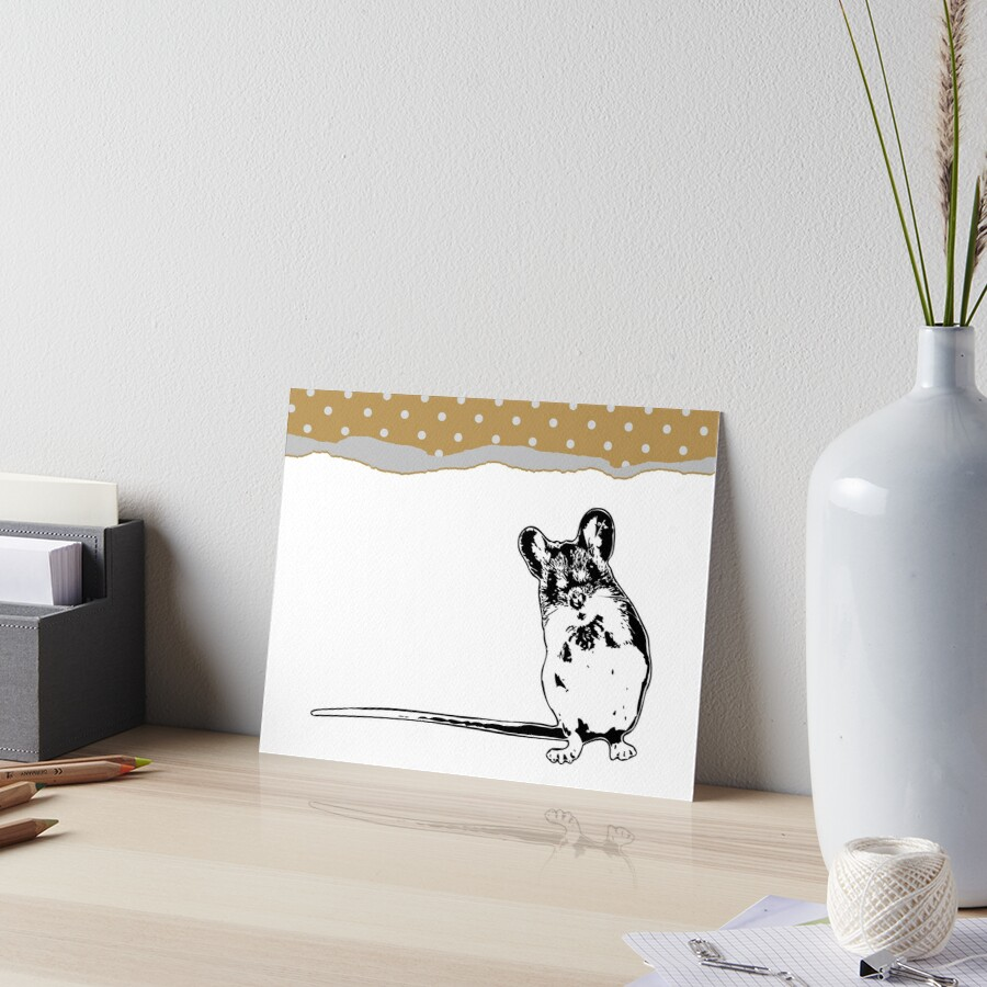 Mouse - Critter Love Collection 5 of 6 Art Board Print