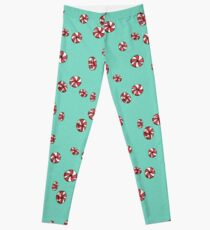 Peppermint Candy in Aqua Leggings