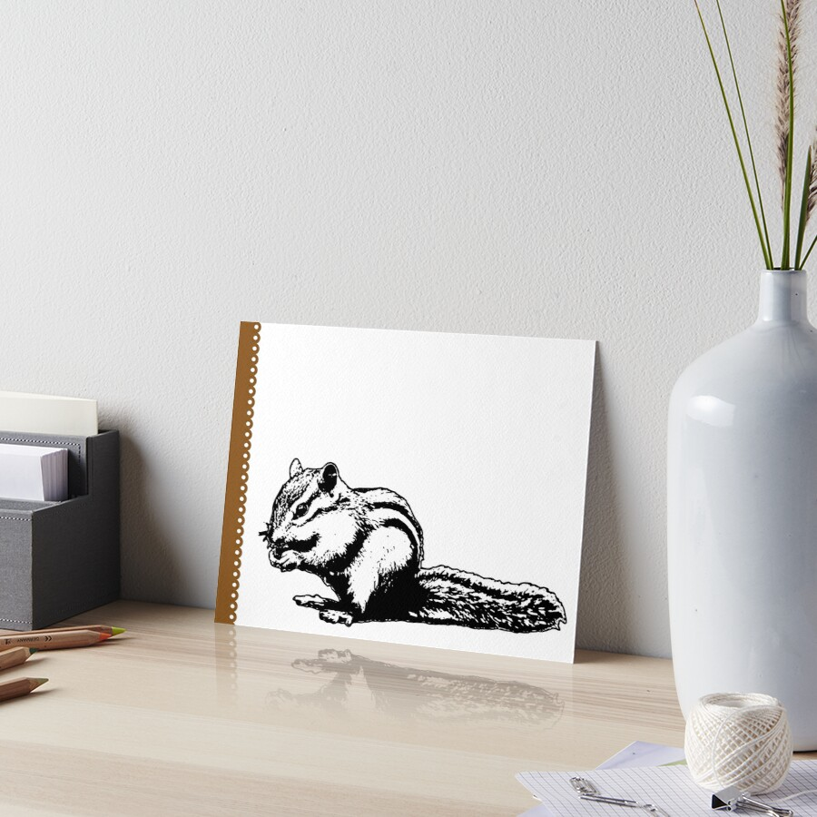 Chipmunk - Critter Love Collection 4 of 6 Art Board Print