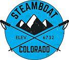 STEAMBOAT SPRINGS COLORADO Ski Skiing Mountain Mountains Skiing Skis Snowboard Snowboarding 2 by MyHandmadeSigns