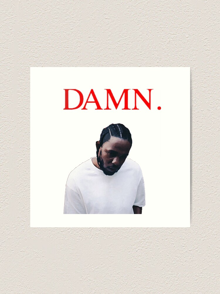 Kendrick Lamar DAMN poster wall decoration photo print 24x24 inches