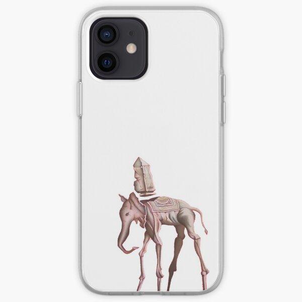 Dibujo elefante Dalí Funda blanda para iPhone