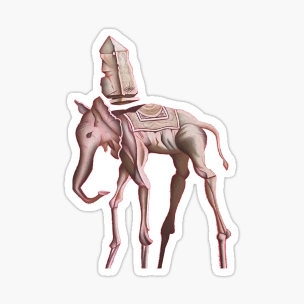 Dessin d'éléphant de Dali Sticker