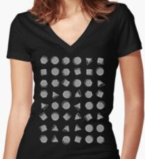 Out of Bounds (White on Dark Shirt) Women's Fitted V-Neck T-Shirt