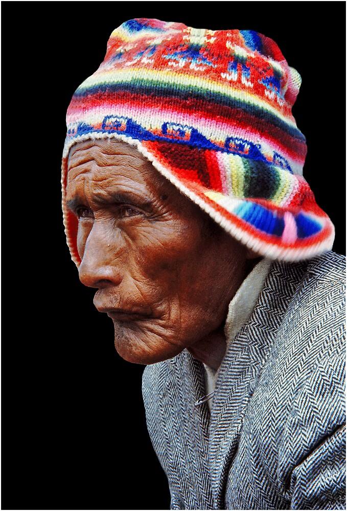 Aymara Man. Taquile Island. Titikaka Lake, Bolivia by Eyal Nahmias