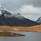 Mountains from Knockan Crag  by Maria Gaellman