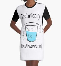 Science is Optimistic Graphic T-Shirt Dress