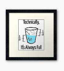 Science is Optimistic Framed Print