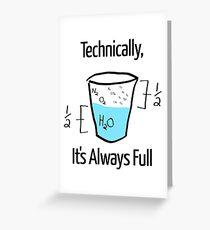 Die Wissenschaft ist optimistisch Grußkarte