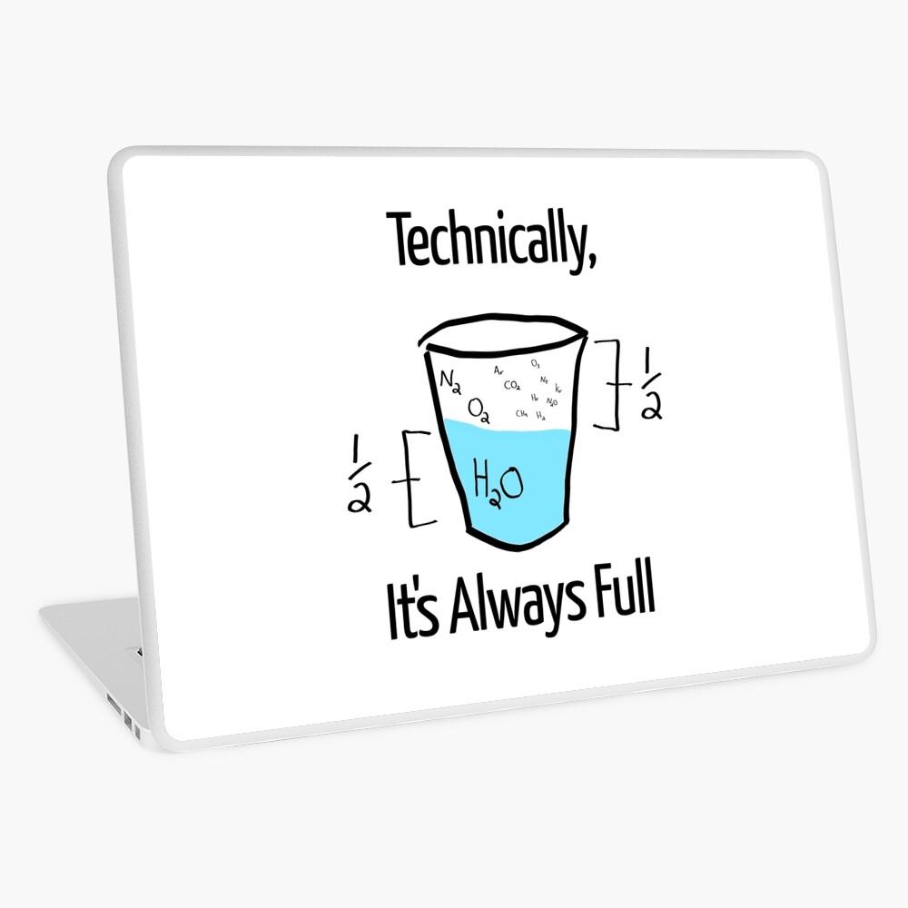 Die Wissenschaft ist optimistisch Laptop Folie