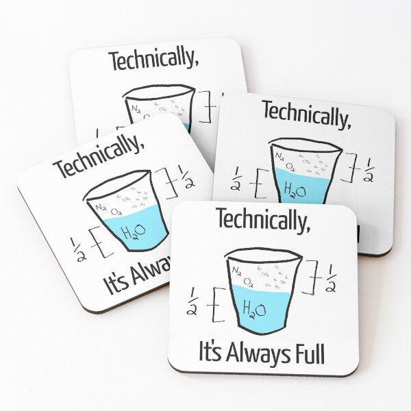 Science is Optimistic Coasters (Set of 4)