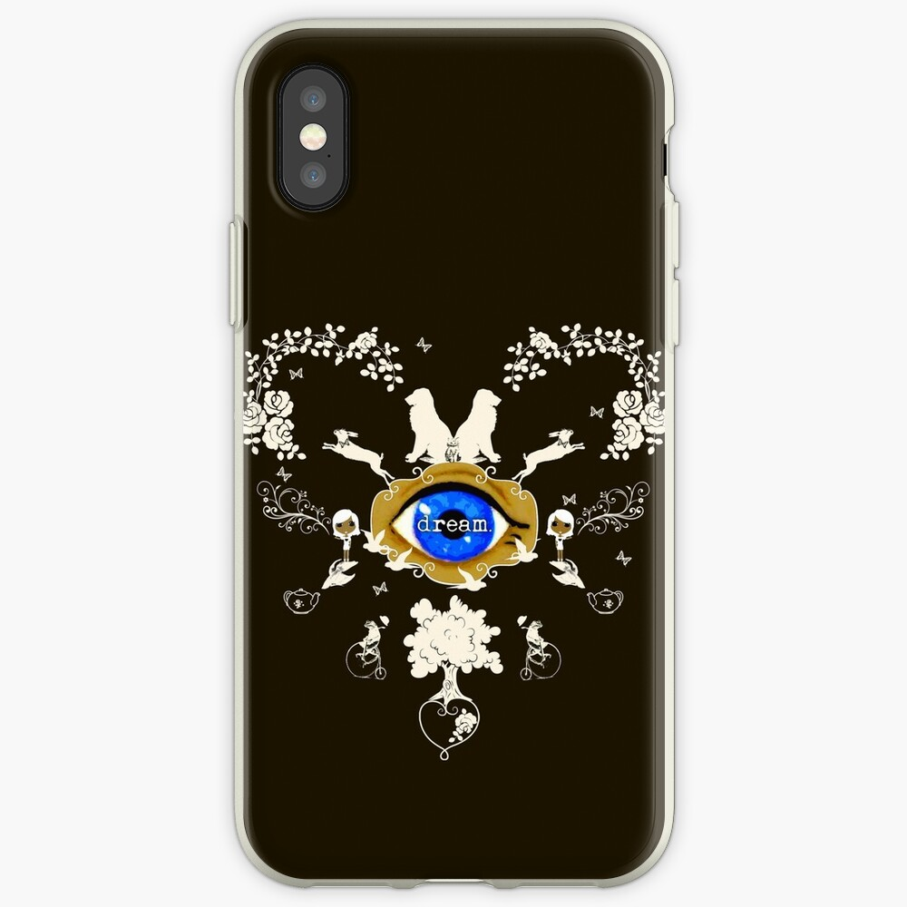 I Dream In Color - Light Silhouettes on Dark Brown iPhone Case & Cover
